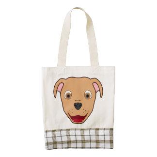 Fawn Pitbull Face Zazzle HEART Tote Bag