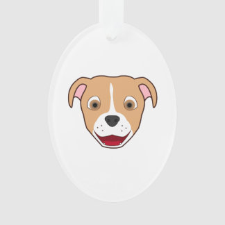 Fawn Pitbull with Blaze Ornament