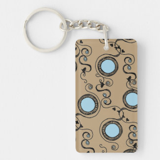 Fawn polka dot pattern Single-Sided rectangular acrylic keychain