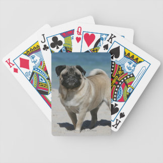 Fawn Pug at the Beach Bicycle Playing Cards