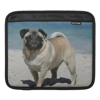 Fawn Pug at the Beach iPad Sleeves