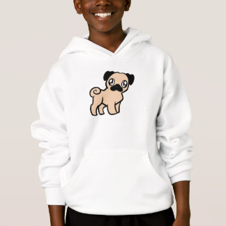 fawn pug cartoon hoodie