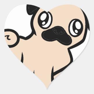 fawn pug cartoon.png heart sticker