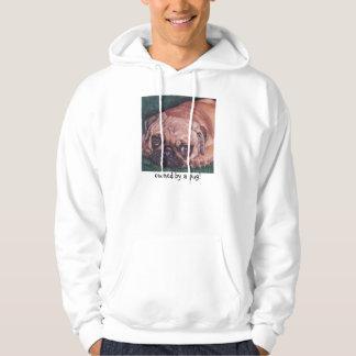 Fawn Pug fine art sweatshirt hoodie