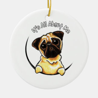 Fawn Pug IAAM Ceramic Ornament