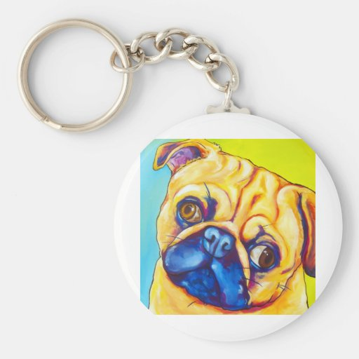 Fawn Pug Key Chain