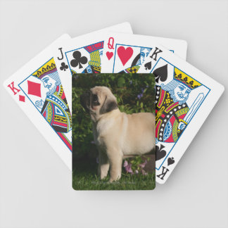 Fawn Pug Profile Bicycle Playing Cards