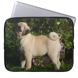 Fawn Pug Profile Computer Sleeve