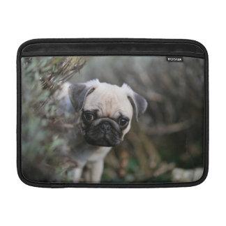 Fawn Pug Puppy Headshot MacBook Sleeves