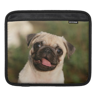 Fawn Pug Puppy Panting Sleeves For iPads