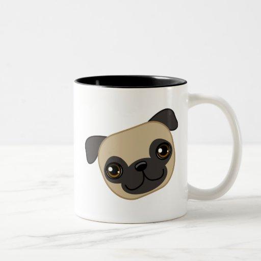 Fawn Pug Two-Tone Coffee Mug