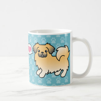 Fawn Sable Tibetan Spaniel Cartoon Dog Coffee Mug