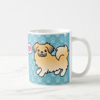 Fawn Sable Tibetan Spaniel Love Coffee Mug