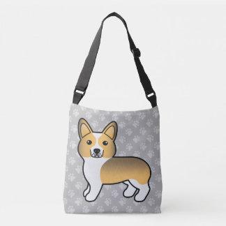 Fawn Sable Welsh Corgi Pembroke Cartoon Dog Crossbody Bag