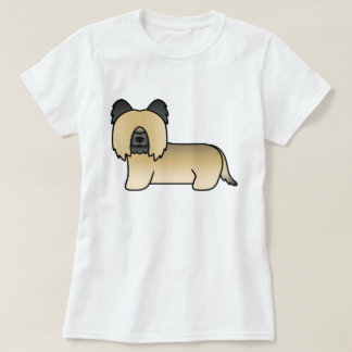 Fawn Skye Terrier Dog Illustration T-Shirt