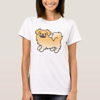 Fawn Tibetan Spaniel Cartoon Dog T-Shirt