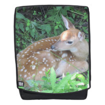 Fawn Waiting For Mom Backpack