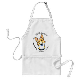 Fawn White Corgi Its All About Me Adult Apron