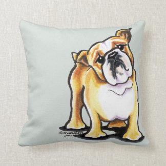 Fawn White English Bulldog Portrait Pillows
