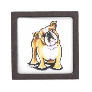 Fawn White English Bulldog Portrait Premium Gift Box