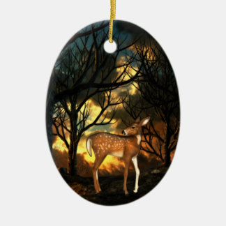Fawn, Young Deer of the Forest Christmas Ornament