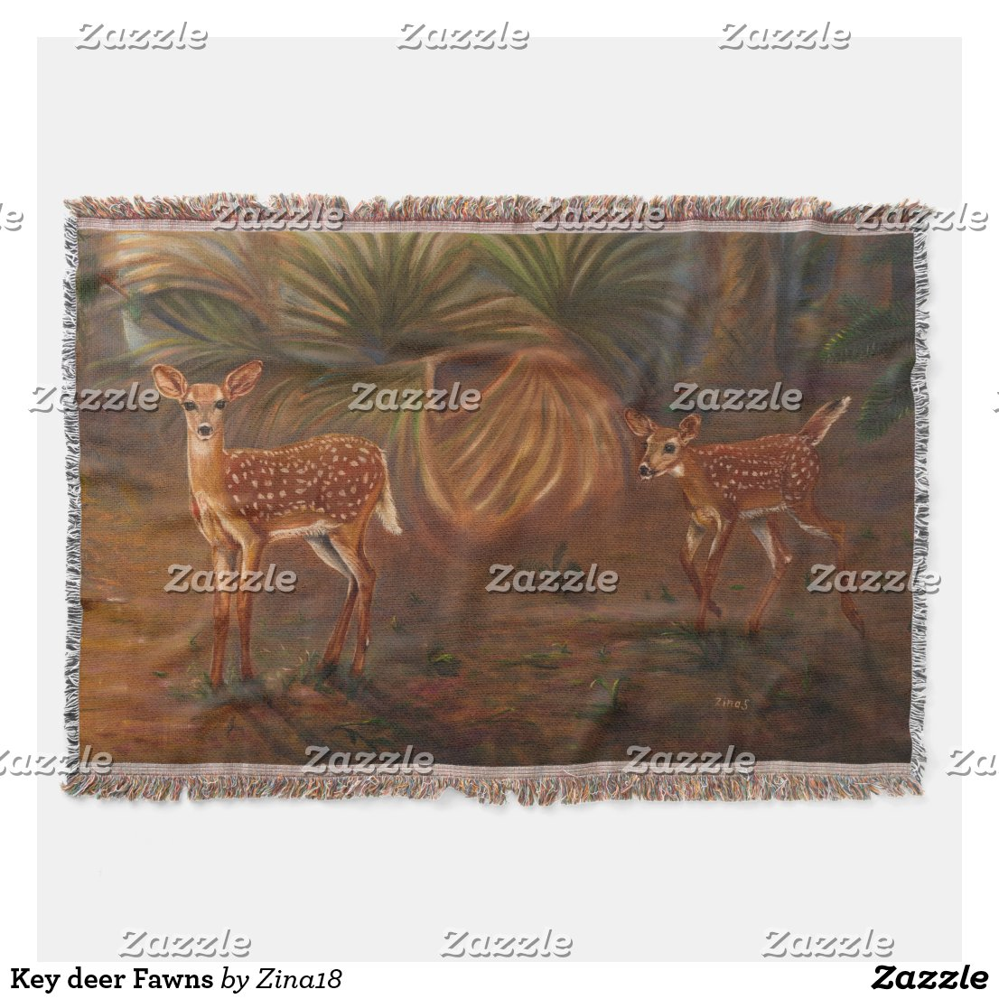 Fawns Throw