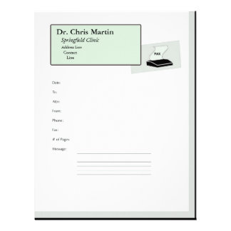 Fax Machine Cover Letter Customizable Letterhead
