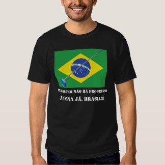 FAXINA JÁ, BRASIL!!! TEE SHIRT