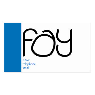 Fay black Profile Card Double-Sided Standard Business Cards (Pack Of 100)