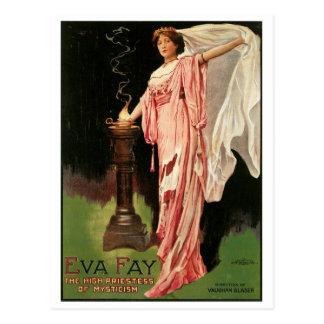 ~ Fay de Eva la alta sacerdotisa de la magia del Tarjeta Postal