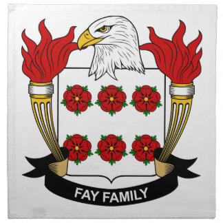 Fay Family Crest Printed Napkins