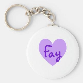 Fay in Purple Keychain