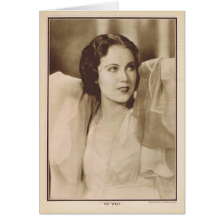 Fay Wray 1930 vintage portrait Card