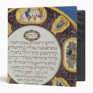 Fayeme Passover Dish,by Isaac Cohen of Pesaro 3 Ring Binder