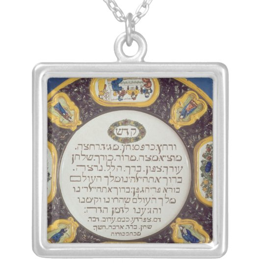 Fayeme Passover Dish,by Isaac Cohen of Pesaro Silver Plated Necklace