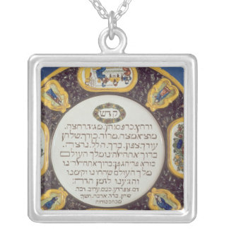 Fayeme Passover Dish,by Isaac Cohen of Pesaro Square Pendant Necklace