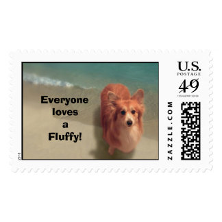 fayeonbeach, Everyone lovesa Fluffy! Postage
