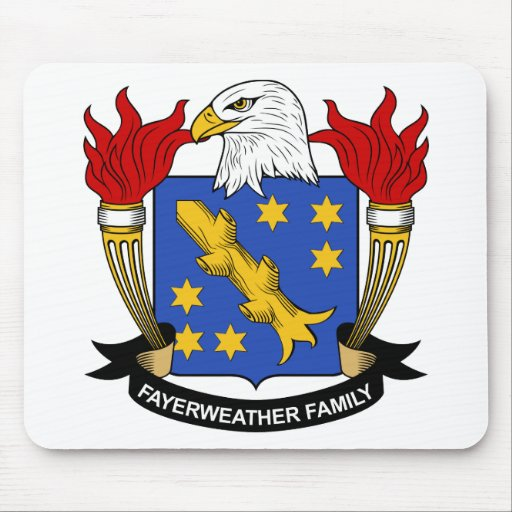 Fayerweather Family Crest Mouse Mat