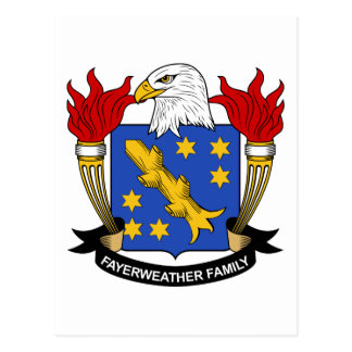 Fayerweather Family Crest Postcard