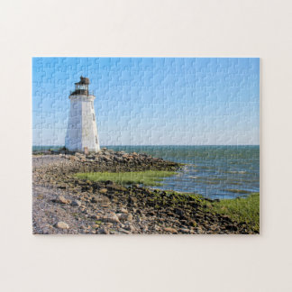 Fayerweather Island Lighthouse, Connecticut Jigsaw Puzzle