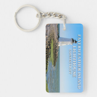 Fayerweather Island Lighthouse, Connecticut Keychain