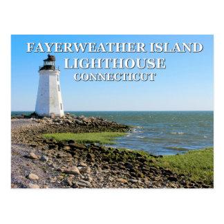 Fayerweather Island Lighthouse, Connecticut Postcard