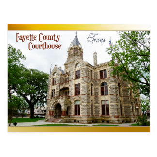 Fayette County Courthouse, La Grange, Texas Postcard