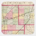 Fayette, Effingham, Marion, condados Pegatina Cuadrada