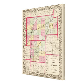 Fayette, Effingham, Marion, counties Canvas Print