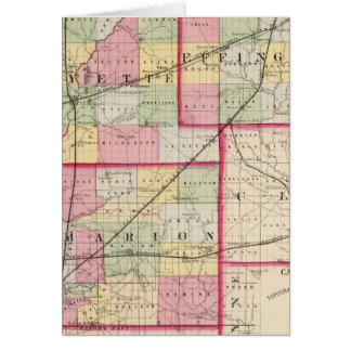 Fayette, Effingham, Marion, counties Greeting Card