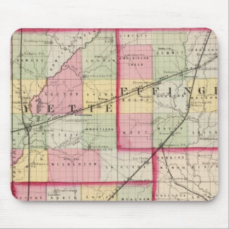Fayette, Effingham, Marion, counties Mouse Pad