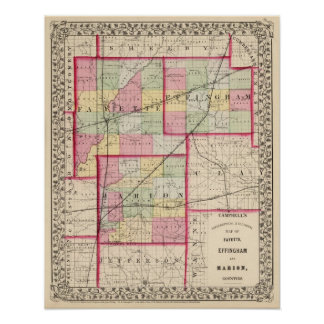Fayette, Effingham, Marion, counties Poster