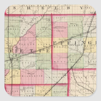 Fayette, Effingham, Marion, counties Square Sticker
