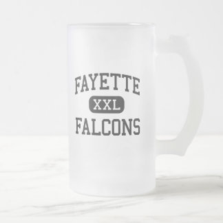 Fayette - Falcons - High School - Fayette Missouri Frosted Glass Beer Mug